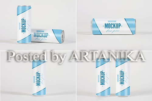 Dripped Soda Can Mock Up