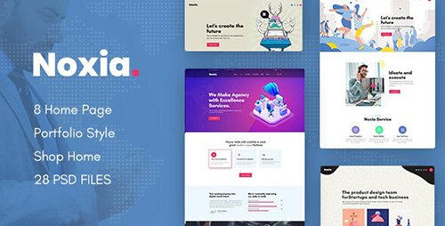 Noxia - Creative Multipurpose Business PSD Template 24192591