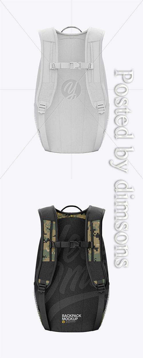 Backpack Mockup - Back View 23316 TIF
