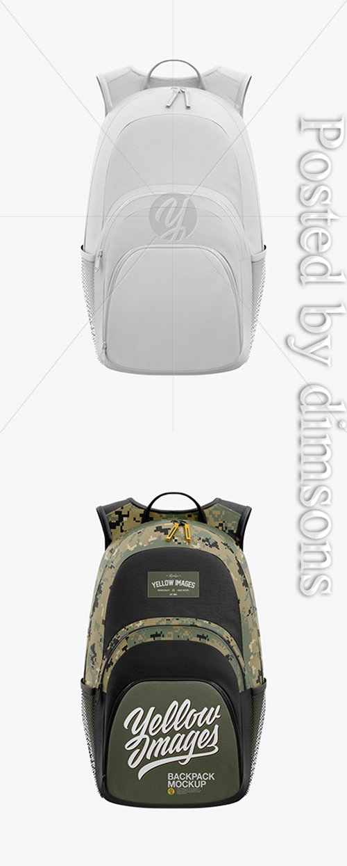 Backpack Mockup - Front View 23308 TIF