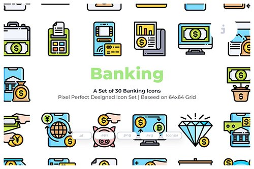 30 Banking Vector Icons
