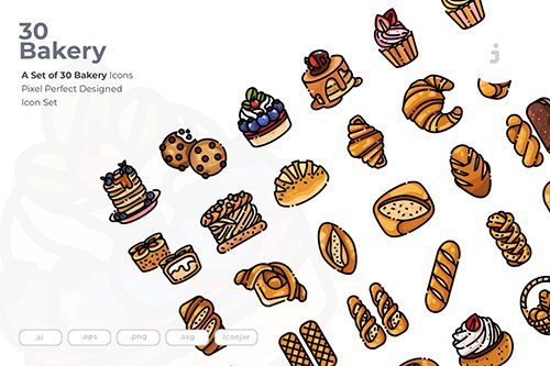 30 Bakery Vector Icons
