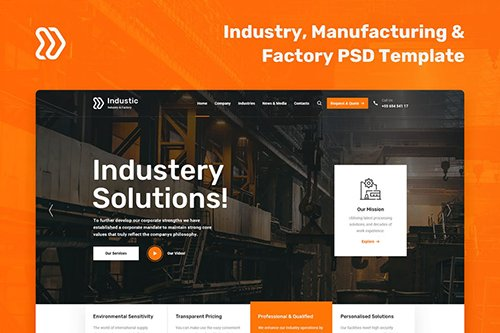Industic - Factory and Manufacturing PSD Template