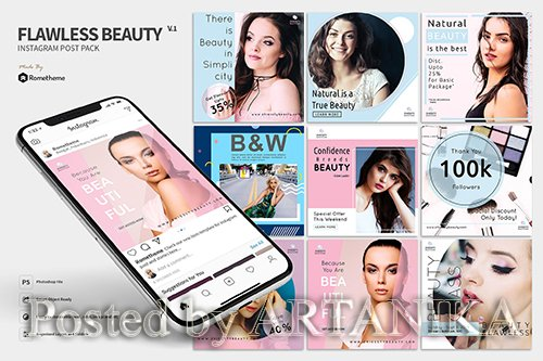 Flawless Beauty - Instagram Post Pack