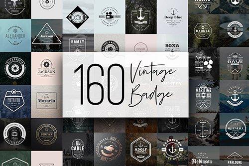160 Vintage Badge