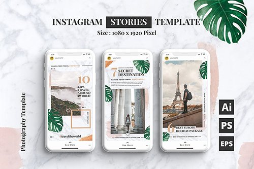 Travel Blog Instagram Stories Template