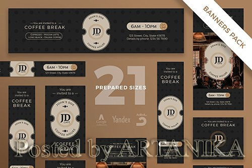 Coffee Bar Banner Pack Template