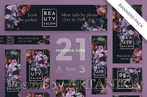 Beauty Salon Banner Pack Template