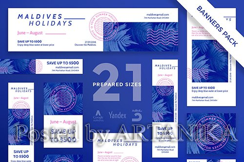 Holidays Travel Banner Pack Template