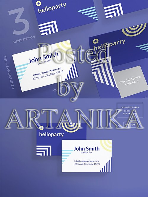 Beach Party Business Card Template
