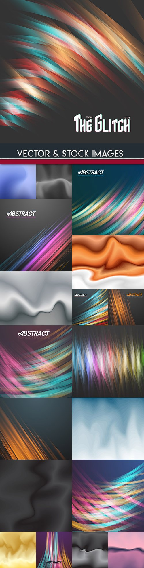 Abstract light effect and blurred gradient background