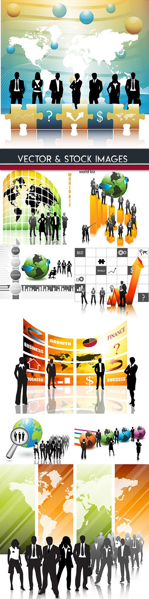 Business silhouettes design people work team
