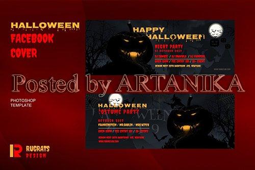 Halloween Facebook Cover Template
