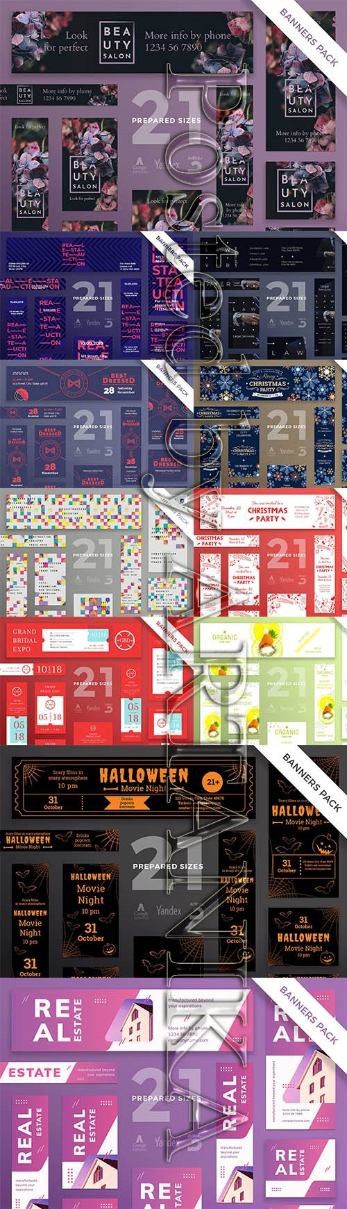 Banner PSD and EPS Template Pack