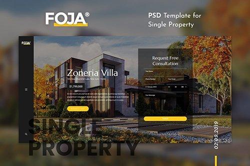 Foja   Single Property PSD Template