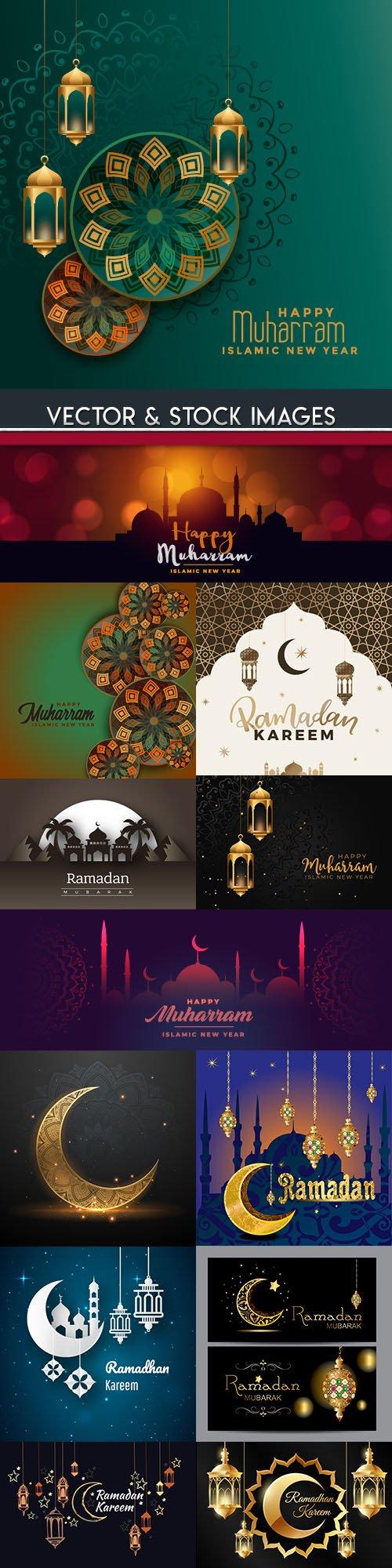 Ramadan Kareem Islamic culture collection illustrations 16