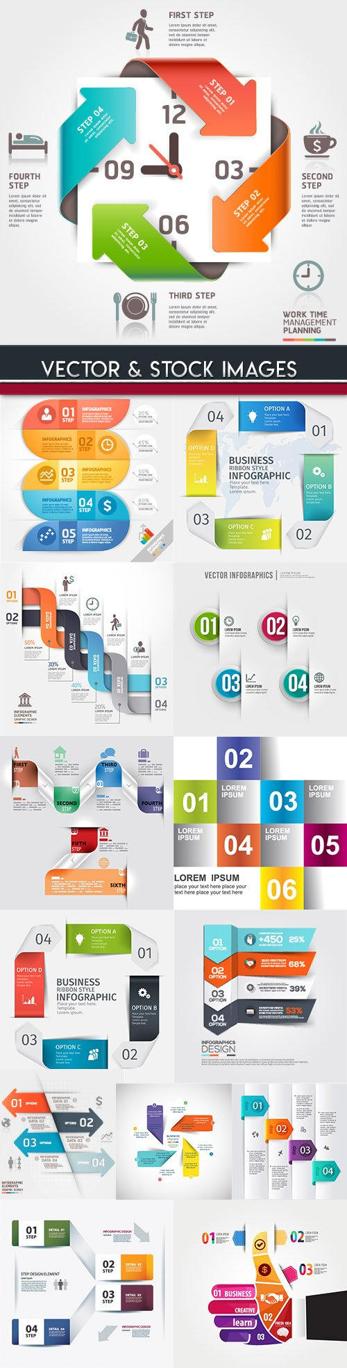 Business infographics options elements collection 93