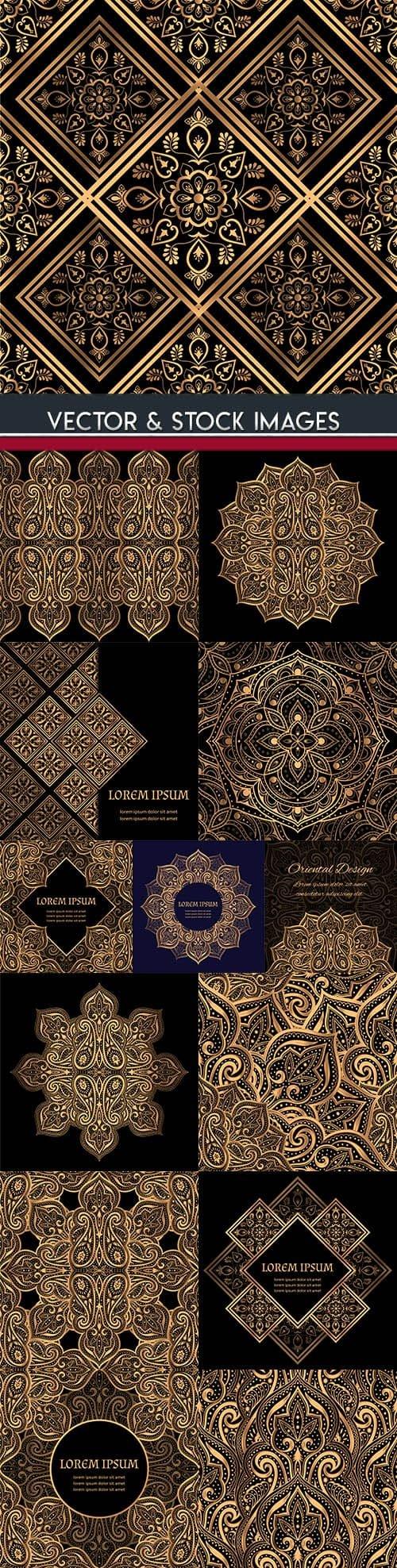 Decorative pattern and mandala gold design