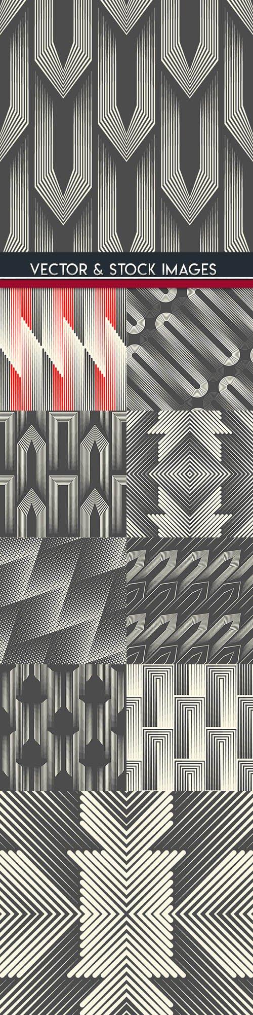 Modern abstract geometry seamless pattern design 25