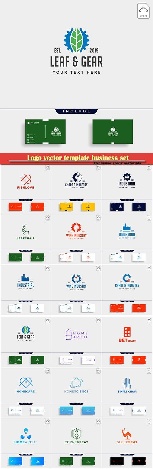 Logo vector template business set # 10