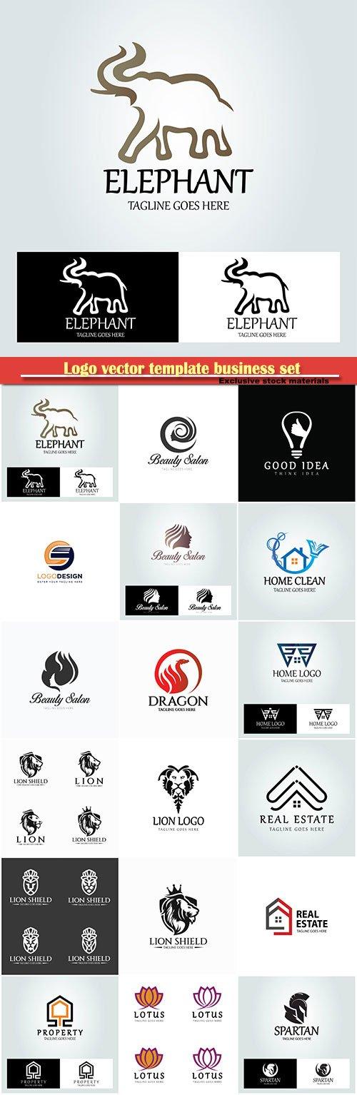 Logo vector template business set # 11