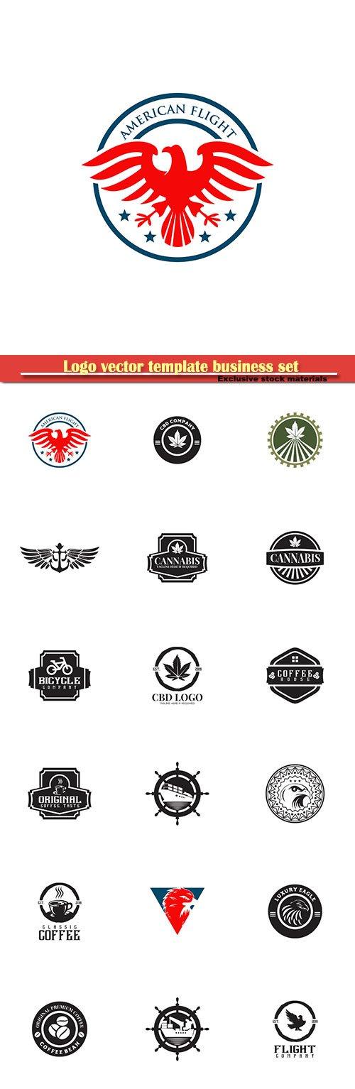 Logo vector template business set # 12