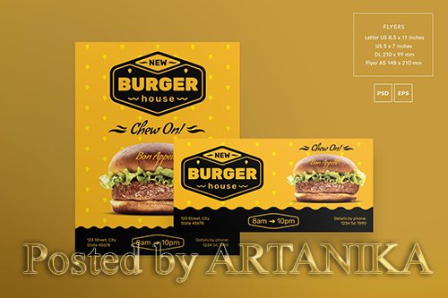 Burger House Flyer and Poster Template