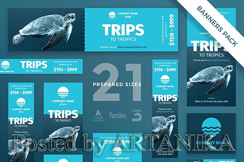 Travel Agency Banner Pack Template