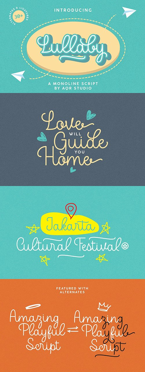 Lullaby Playful Typeface