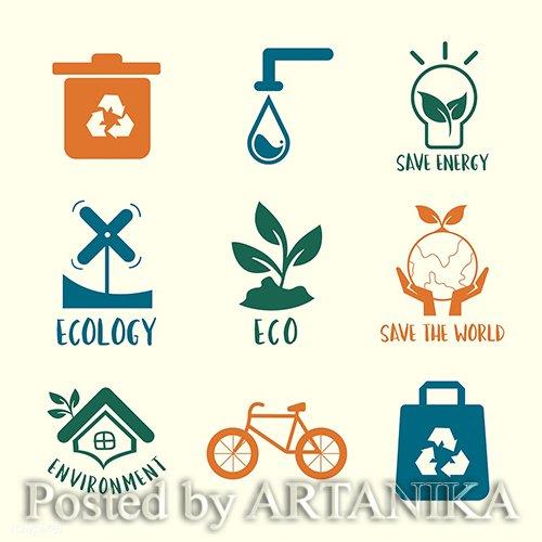 Environmental Conservation Symbol set 513342