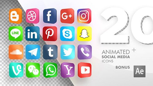 VH - 20 Animated Social Media Icons 20724073