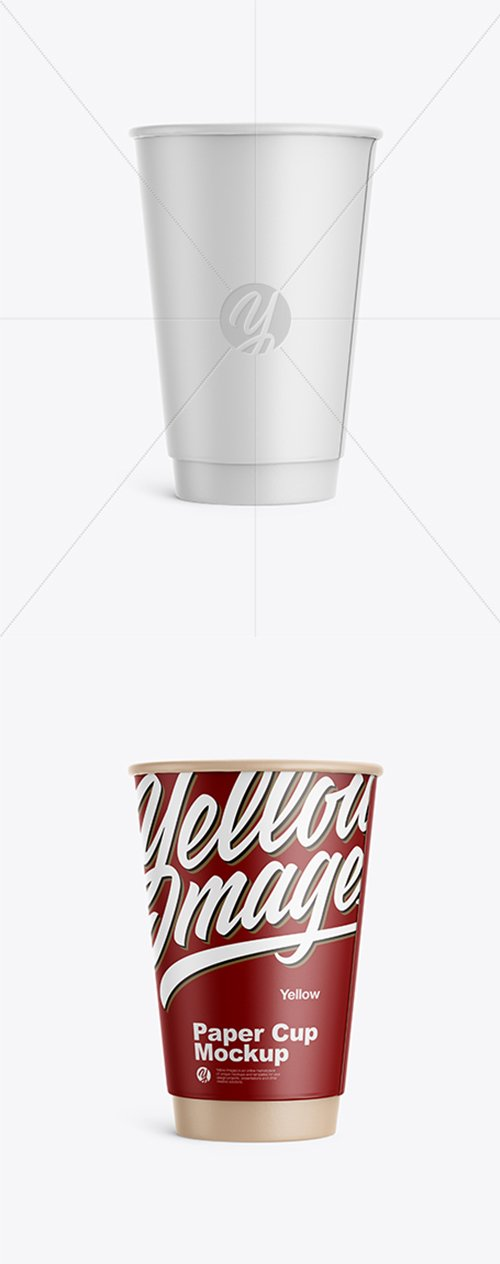 Matte Paper Coffee Cup Mockup - Front View 31837 TIF