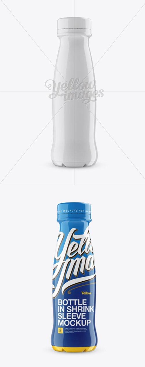 350 ml Plastic Bottle In Shrink Sleeve Mockup 12839 TIF
