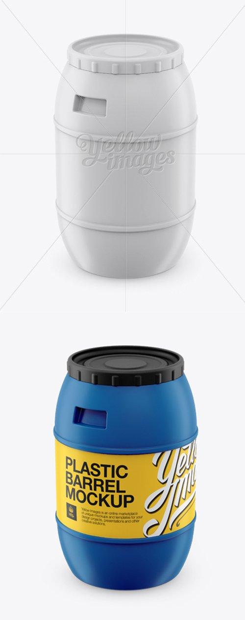 100L Plastic Barrel Mockup - High-Angle Shot 12908 TIF