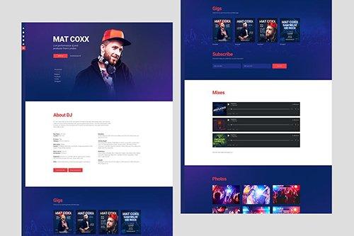 PromoDJ - DJ / Producer Personal Site PSD Template