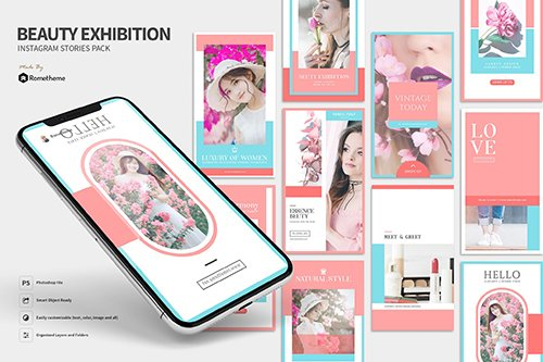 Beauty Exhibition - Instagram Stories Pack