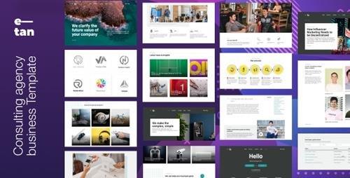 ThemeForest - E—tan v1.0 - Digital Consulting Agency HTML Template - 24530617
