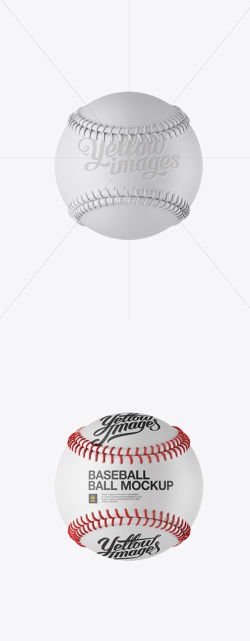 Baseball Ball Mockup - Front View 12759 TIF