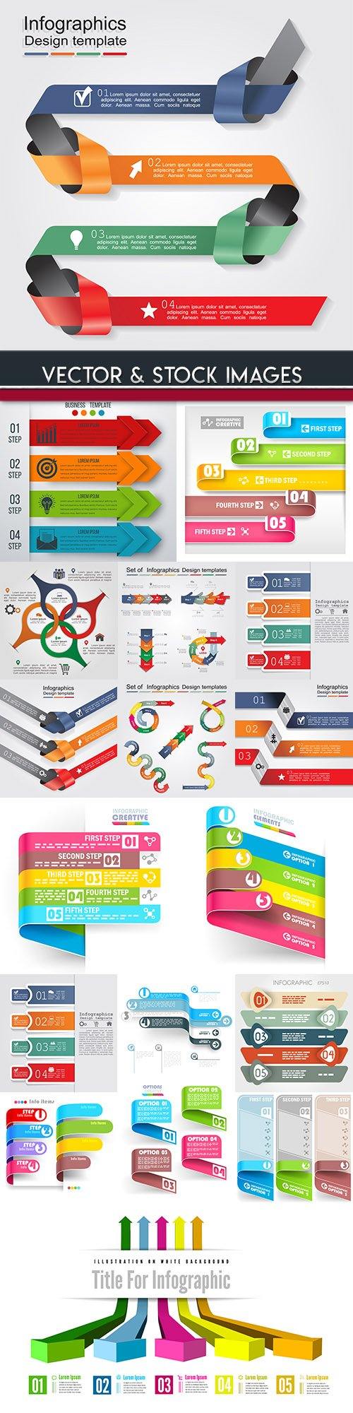 Business infographics options elements collection 95
