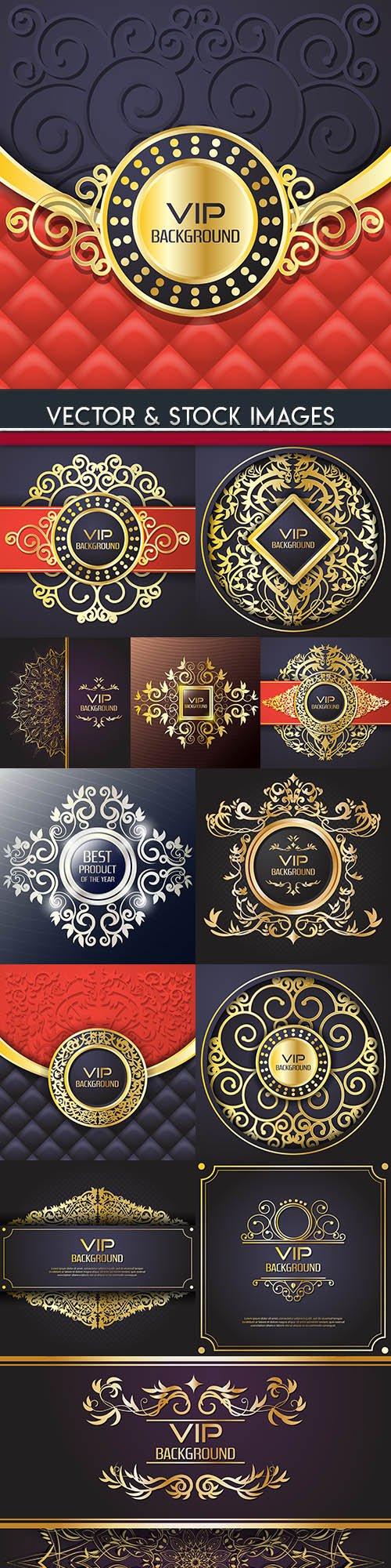 Luxury vip golden vintage elegant background