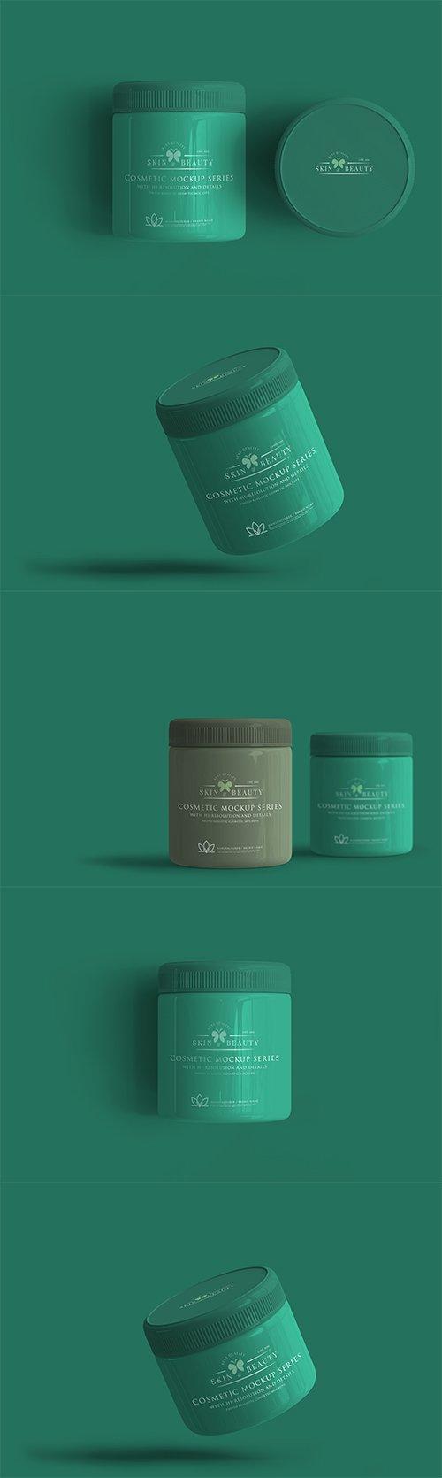 Cosmetic Jar Mockup Pack
