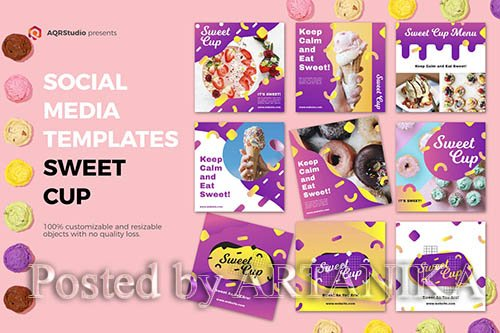 Sweet Cup Media Banners