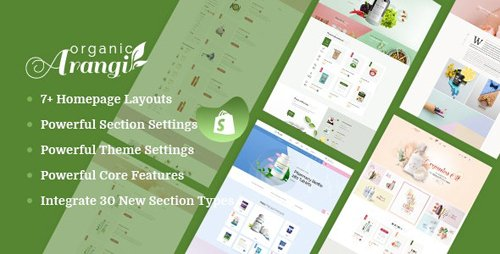 ThemeForest - Arangi v1.0.0 - Organic & Healthy Products Shopify Theme - 24443383