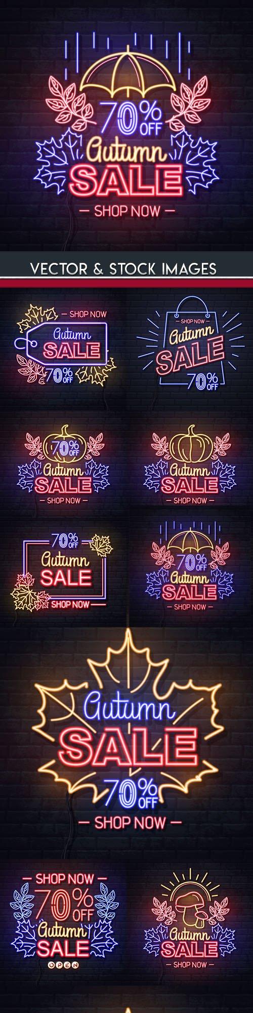Autumn sale special offer decorative background