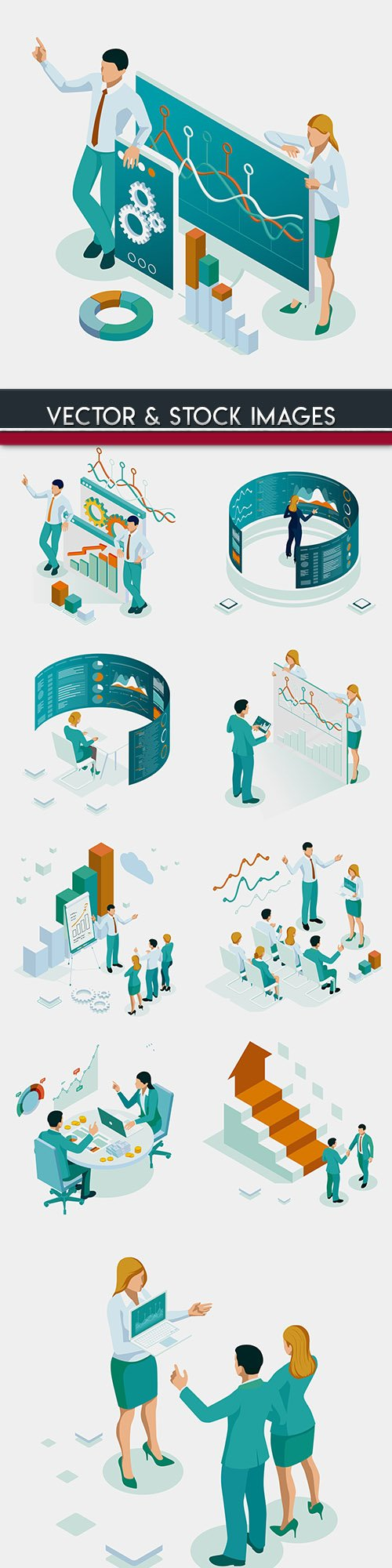 Isometrics business technology and people design