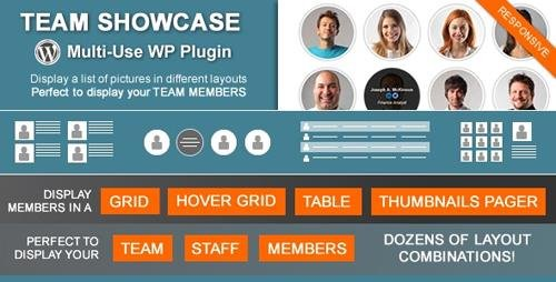 CodeCanyon - Team Showcase v2.1.8 - Wordpress Plugin - 4936368