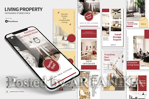 Living - Property Instagram Stories Pack