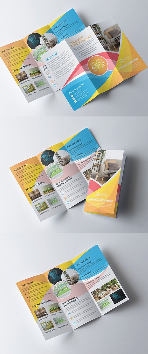 Interior Furniture Trifold Brochure Layout 277926688 AIT