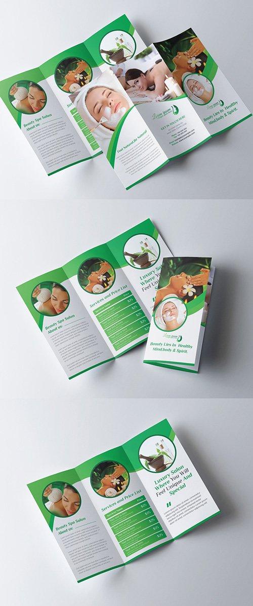 Beauty Salon Trifold Brochure Layout 277926646 AIT