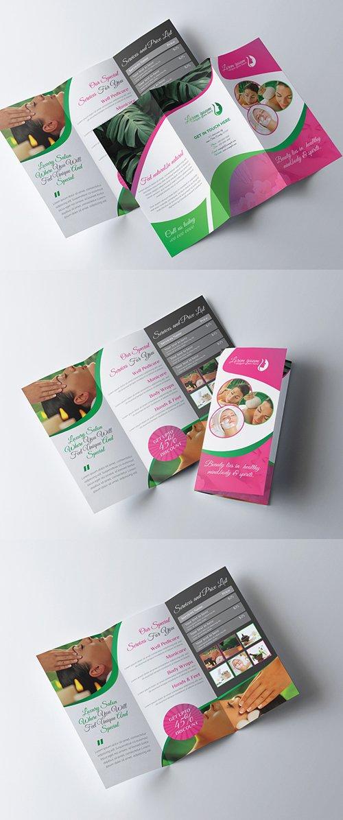 Beauty Spa Trifold Brochure Layout 277926645 AIT